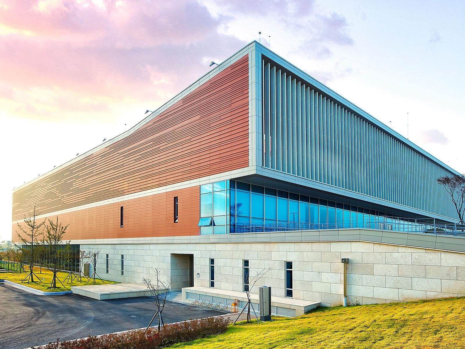 fachada sostenible Incheon Asian Games Polo Stadium