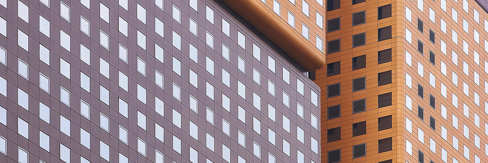 fachada dos colores Corea D Tower